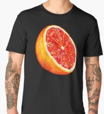 Grapefruit Pattern - Black Men's Premium T-Shirt