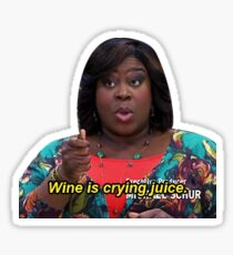 Wine is Crying Juice Donna Sticker