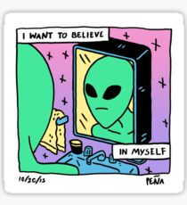 i want to believe in myself Sticker