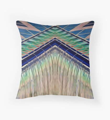 Converging Liquid Colour Throw Pillow