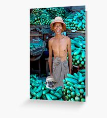 CUCUMBER MERCHANTS - MANDALAY Greeting Card