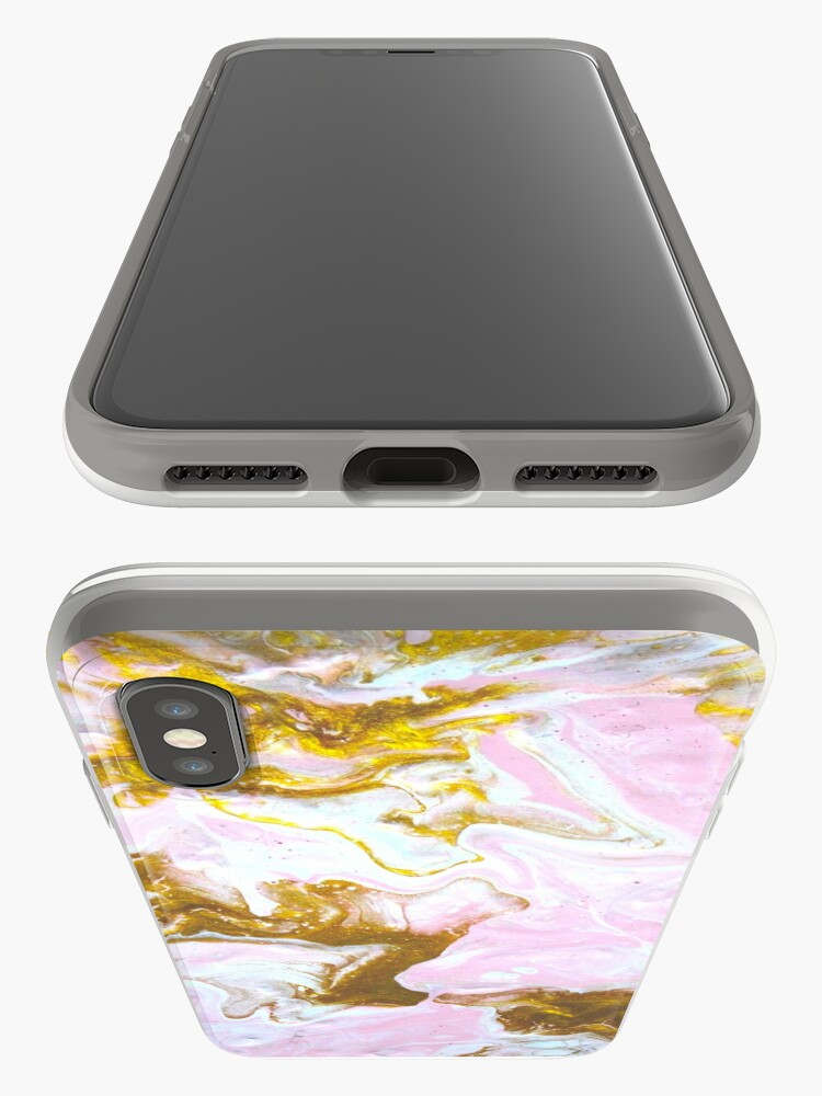 Alternate view of pink and gold iPhone Case & Cover