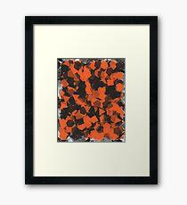 Orange/Black style Framed Print