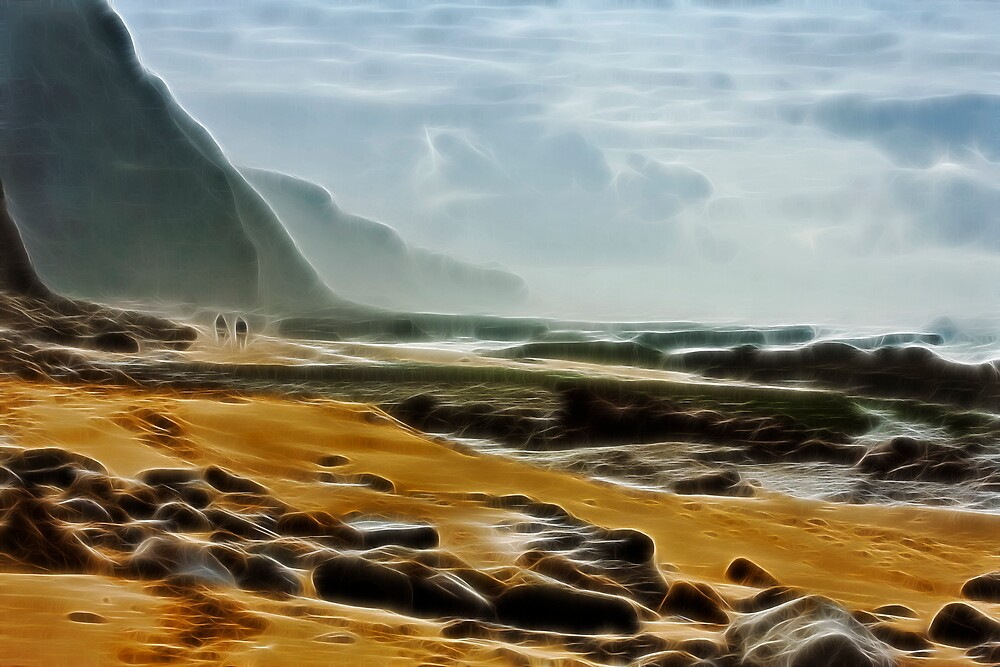 Along the beach by LMarinho
