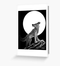 Wolf and the Moon Greeting Card