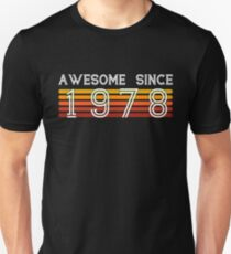 Awesome Since 1978, 40 Years Old 40th Birthday Gift Slim Fit T-Shirt
