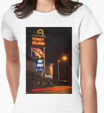 The Famous Coney Island In Worcester  Women's Fitted T-Shirt