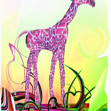 Young Pink Giraffe  by A-Muse
