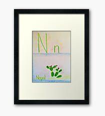 N is for Nopal Framed Print