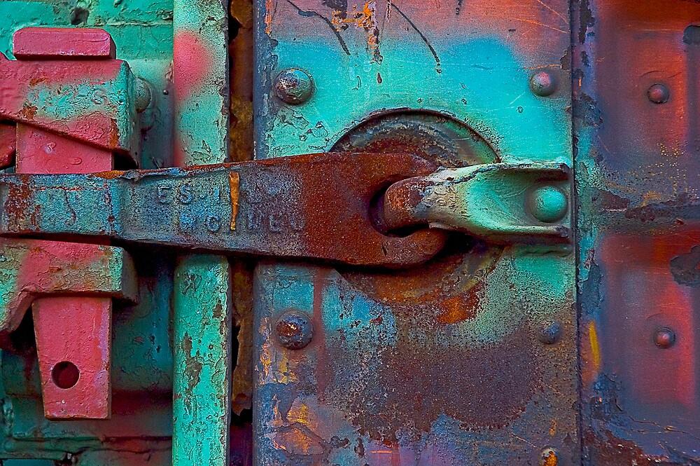 Train Door Latch by gary becker