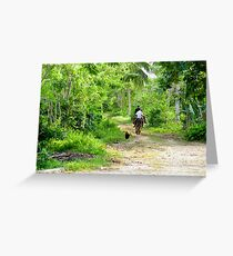 Horseback Riding on the Natural Trail Greeting Card