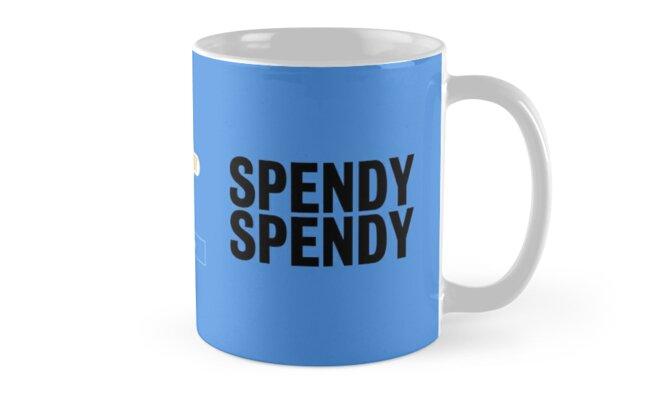 Spendy Spendy Mug - Bailiff Blue by DressageDaddy