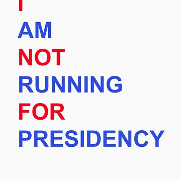 I am NOT running for Presidency! by martinn13