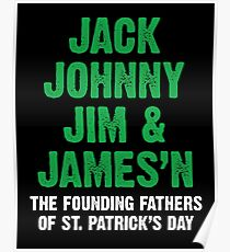 St. Patrick's Day Founding Fathers Poster