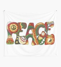Vintage Psychedelic Peace Wall Tapestry