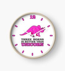 Triceratops Dino - Three Horns better than Unicorn VRS2 Clock