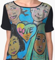 LOVE is All of Us Chiffon Top