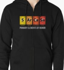 Sudadera con capucha y cremallera Humor sarcasmo Mendeleev elementos periodicos