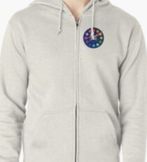 Institute for Planar Research and Exploration Badge Zipped Hoodie
