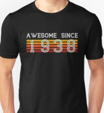 Awesome Since 1938, 80 Years Old 80th Birthday Gift Unisex T-Shirt