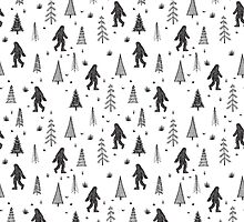 trees + yeti pattern by swoldham