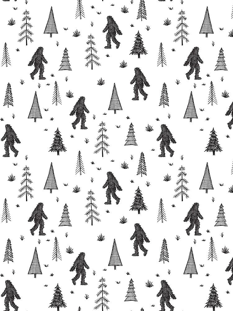 trees + yeti pattern by swoldham