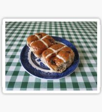 A Foretaste of Easter - Spicy Hot Cross Buns Sticker