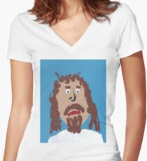 Jésus Women's Fitted V-Neck T-Shirt