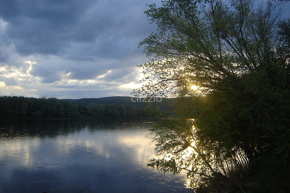 Sunset Over the Susquehana River by clizzio
