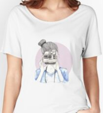 Pastel Polaroid Girl Women's Relaxed Fit T-Shirt