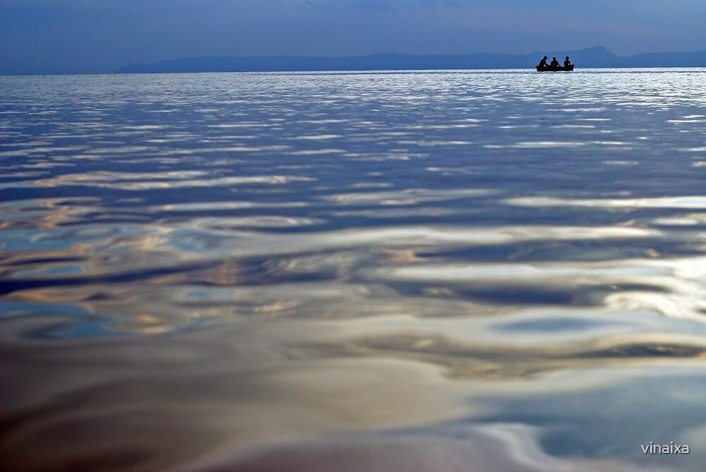 Fishing at Dusk by vinaixa