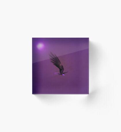 Once In A Purple Moon...... Acrylic Block