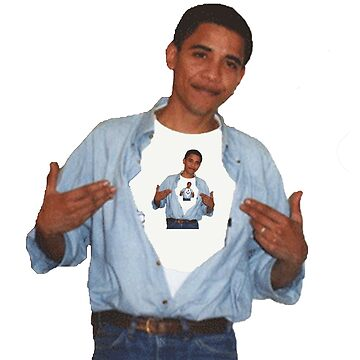 Obama wearing a t-shirt of Obama wearing a t-shirt of Obama wearing a t-shirt of Obama wearing a t-shirt of Obama by BlueWallDesigns