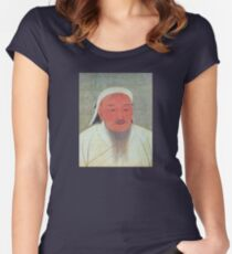 Genghis Khan Portrait  Women's Fitted Scoop T-Shirt