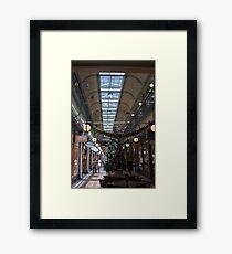 Shopping Arcade Framed Print