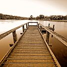 Lake Daylesford sunrise by Victor Pugatschew