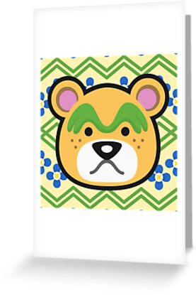 Nate animal crossing greeting cards by purplepixel redbubble nate animal crossing by purplepixel m4hsunfo
