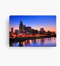 Nashville Southern Nights Canvas Print