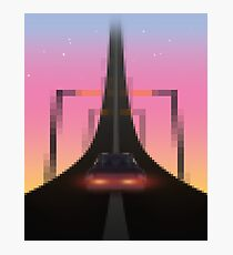 Road to the Retrowave Photographic Print