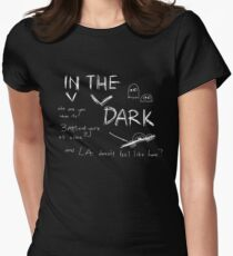 In The Dark White Font Women's Fitted T-Shirt