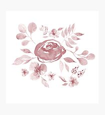 Stephaine Floral in Pink Photographic Print