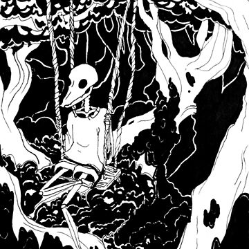 skeleton forest swing  by socialllama