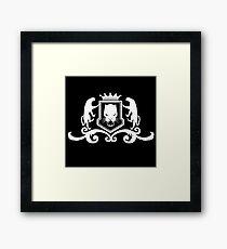 Black Panther style regal crest Framed Print