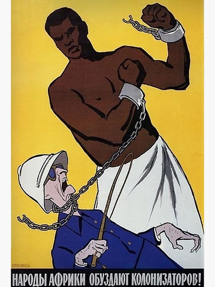 """«Affiche anti-coloniale soviétique - """"Les Africains réprimeront les colonisateurs!"""" (1950-1960s)» par dru1138"""