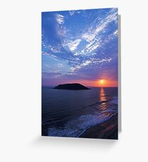 Waves Above and Below Greeting Card