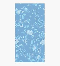 Stephaine Floral in Blue Photographic Print