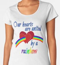 Our hearts are united by a rainbow - Women's Premium T-Shirt