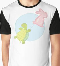 A Turtle with a Baloon (White Background) Graphic T-Shirt