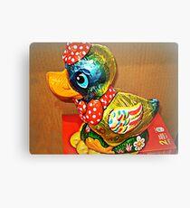 *Donald Duck Easter Gift* Metal Print