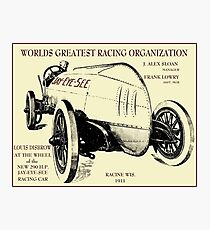 JAY-EYE-SEE :Vintage 1911 Auto Racing Advertising Print Photographic Print